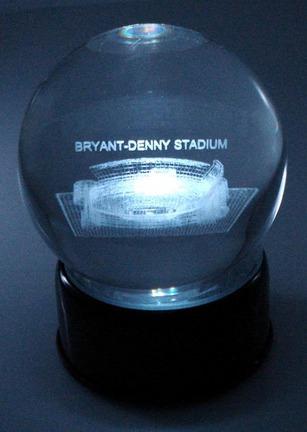 Bryant-Denny Stadium (Alabama Crimson Tide) Laser Etched Crystal Ball