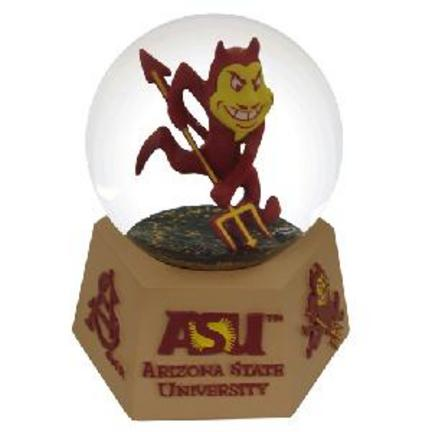 Arizona State Sun Devils Logo Musical Water Globe with Hexagonal Base