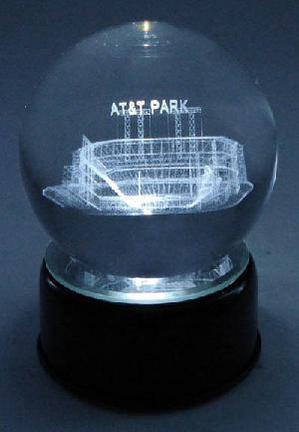 AT&T Park (San Francisco Giants) Laser Etched Crystal Ball