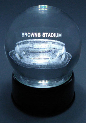 Browns Stadium (Cleveland Browns) Etched Crystal Ball