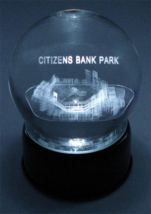 Citizens Bank Park (Philadelphia Phillies) Laser Etched Crystal Ball