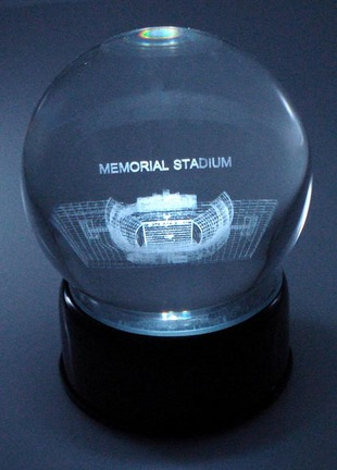 Memorial Stadium (Clemson Tigers) Laser Etched Crystal Ball
