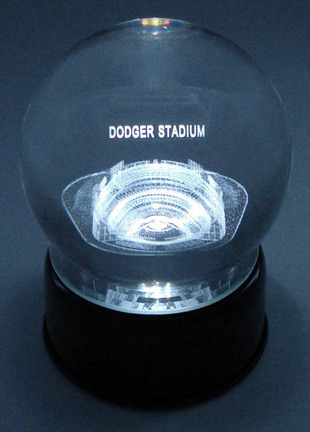 Dodgers Stadium ( Los Angeles Dodgers) Laser Etched Crystal Ball