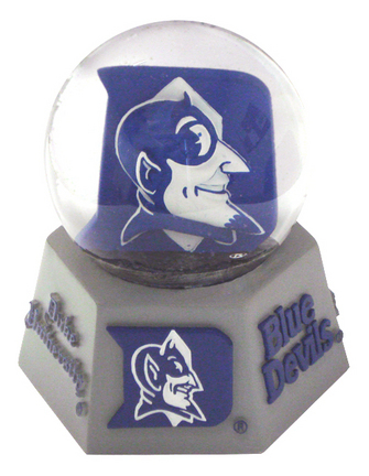 Duke Blue Devils Mascot Musical Water Globe with Hexagonal Base
