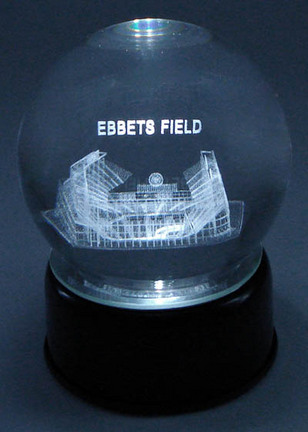Ebbets Field (Brooklyn Dodgers) Laser Etched Crystal Ball