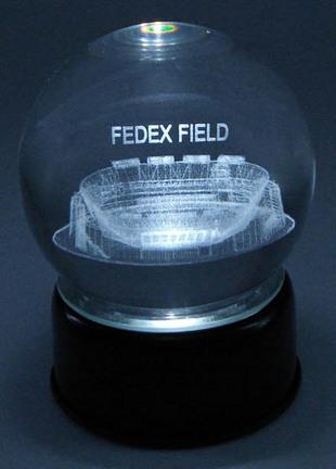 FEDEX Field (Washington Redskins) Etched Crystal Ball