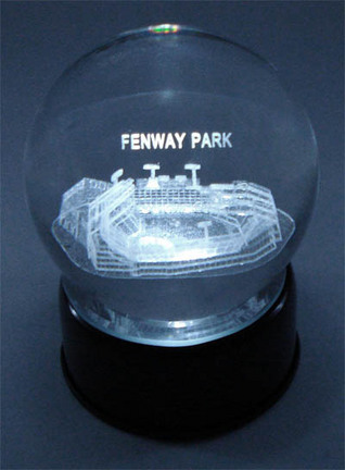Fenway Park (Boston Red Sox) Laser Etched Crystal Ball