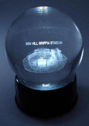Ben Hill Griffin Stadium (Florida Gators) Laser Etched Crystal Ball