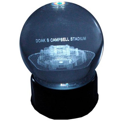 Doak Campbell Stadium (Florida State Seminoles) Laser Etched Crystal Ball