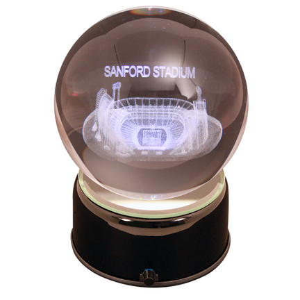 Sanford Stadium (Georgia Bulldogs) Laser Etched Crystal Ball
