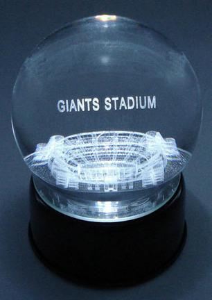 Giants Stadium (New York Giants) Etched Crystal Ball