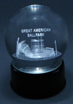Great American Ballpark (Cincinnati Reds) Laser Etched Crystal Ball