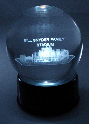 Bill Snyder Family Stadium (Kansas State Wildcats) Laser Etched Crystal Ball