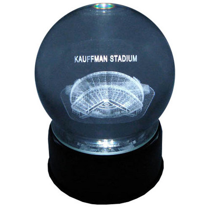 Kauffman Stadium (Kansas City Royals) Laser Etched Crystal Ball