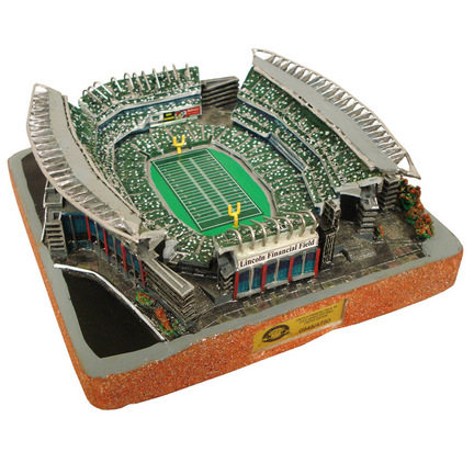 Lincoln Financial Field (Philadelphia Eagles) Limited Edition NFL Football Replica Stadium - Gold Series