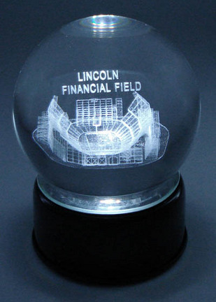 Lincoln Financial Stadium (Philadelphia Eagles) Etched Crystal Ball