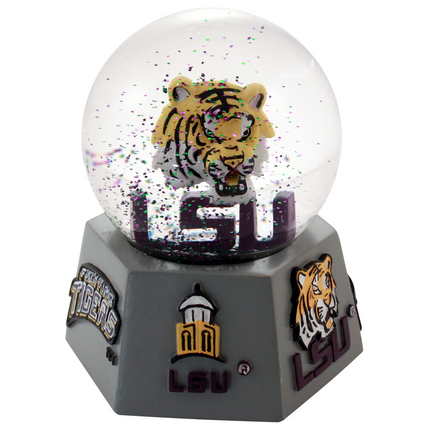 LSU Tigers Logo Musical Water Globe with Hexagonal Base