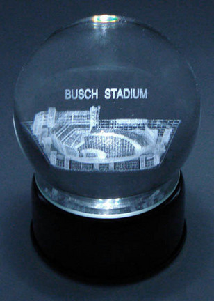 Busch Stadium ( St. Louis Cardinals) Laser Etched Crystal Ball