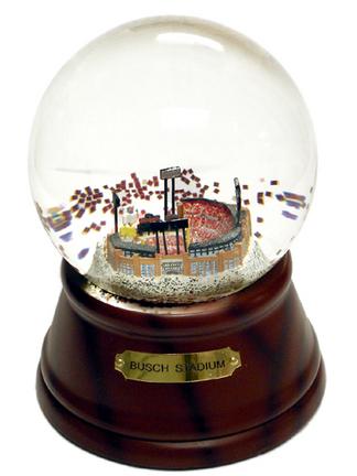 Busch Stadium (St. Louis Cardinals) MLB Baseball Stadium Water Globe With Microchip Activated Song SCG-NEWBUSCHMC