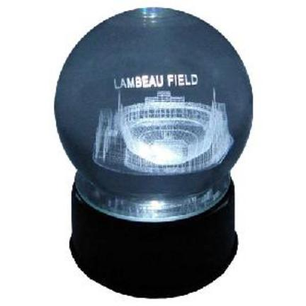New Lambeau Field (Green Bay Packers) Etched Crystal Ball
