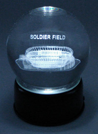 Soldier Field (Chicago Bears) Etched Crystal Ball