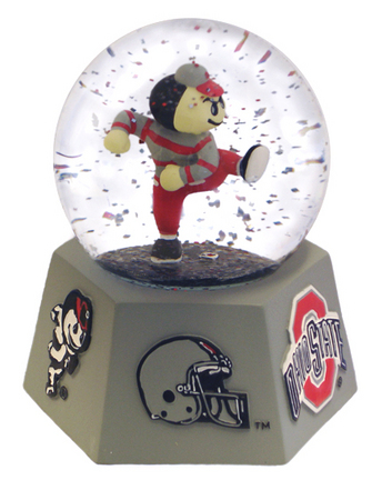 Ohio State Buckeyes Mascot Musical Water Globe with Hexagonal Base
