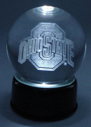 Ohio State Buckeyes Logo Laser Etched Crystal Ball