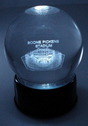 Boone Pickens Stadium (Oklahoma State Cowboys) Laser Etched Crystal Ball