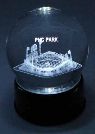 PNC Park (Pittsburgh Pirates) Etched Crystal Ball