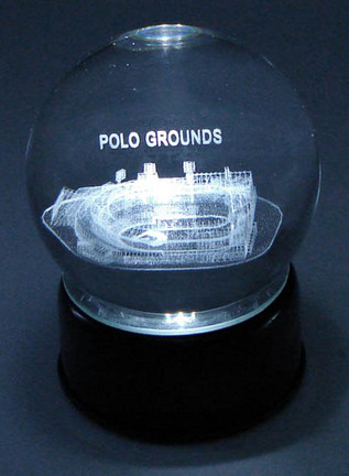 Polo Grounds (New York Giants) Laser Etched Crystal Ball