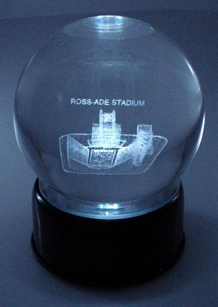 Ross-Ade Stadium (Purdue Boilermakers) Laser Etched Crystal Ball
