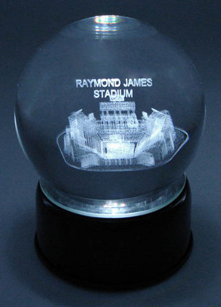 Raymond James Stadium (Tamps Bay Buccaneers) Etched Crystal Ball