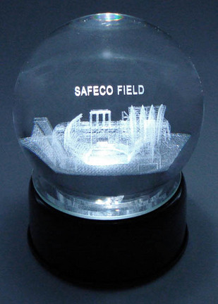 Safeco Field (Seattle Mariners) Laser Etched Crystal Ball