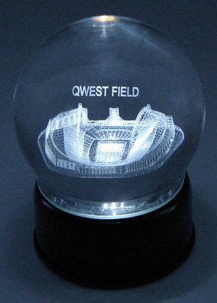 Qwest Field (Seattle Seahawks) Etched Crystal Ball