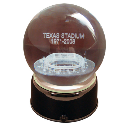 Texas Stadium (Dallas Cowboys) Etched Crystal Ball