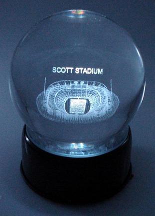 Scott Stadium (Virginia Cavaliers) Laser Etched Crystal Ball