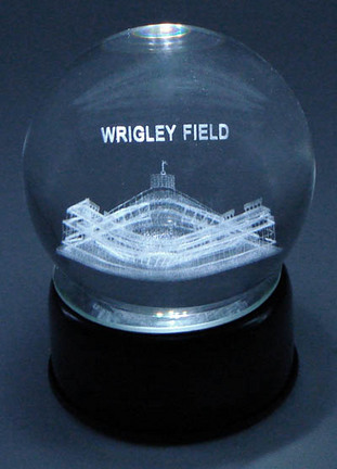 Wrigley Field (Chicago Cubs) Laser Etched Crystal Ball