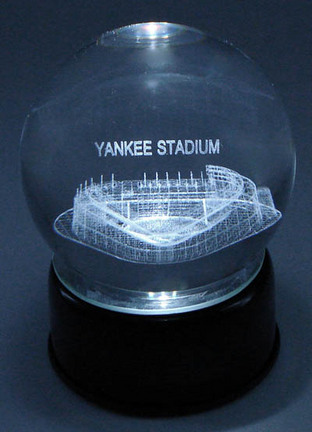 Yankee Stadium (New York Yankees) Laser Etched Crystal Ball
