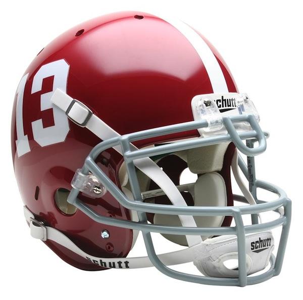 Alabama Crimson Tide NCAA Schutt Full Size Authentic Football Helmet