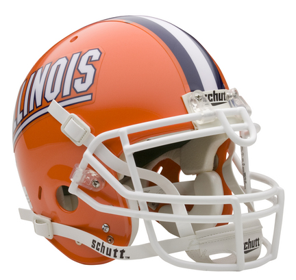 Illinois Fighting Illini NCAA Schutt Full Size Authentic Football Helmet