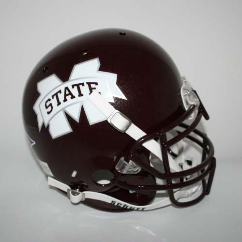 Mississippi State Bulldogs NCAA Schutt Full Size Authentic Football Helmet