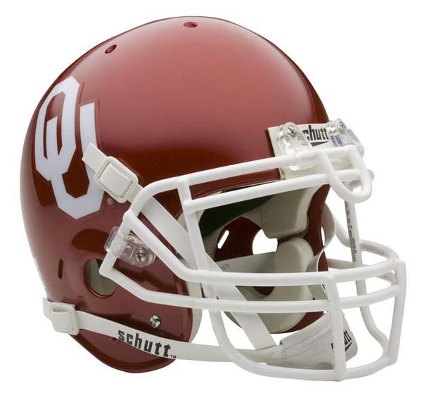 Oklahoma Sooners NCAA Schutt Full Size Authentic Football Helmet
