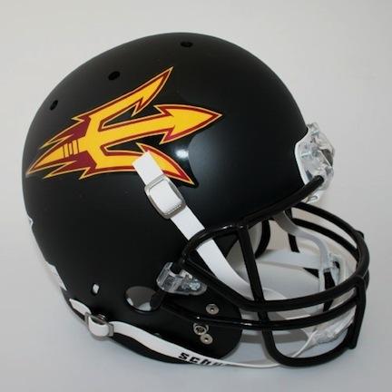 Arizona State Sun Devils NCAA Schutt Full Size Authentic Football Helmet (Black)