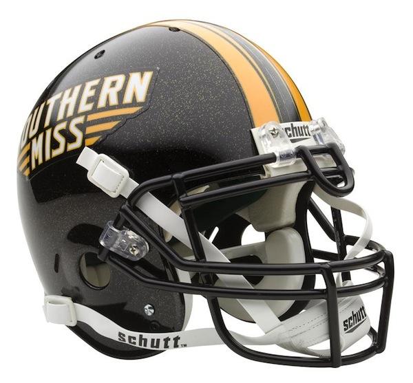 Southern Mississippi Golden Eagles NCAA Schutt Full Size Authentic Football Helmet