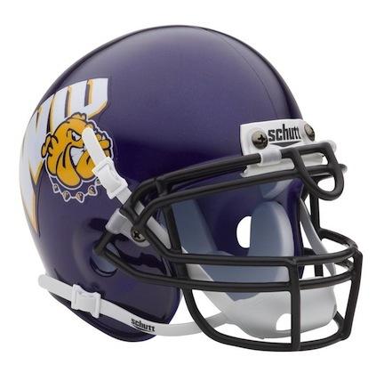 Western Illinois Leathernecks NCAA Mini Authentic Football Helmet From Schutt