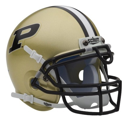 Purdue Boilermakers NCAA Mini Authentic Football Helmet From Schutt