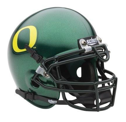 Oregon Ducks NCAA Mini Authentic Football Helmet From Schutt
