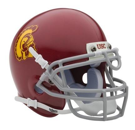 USC Trojans NCAA Mini Authentic Football Helmet From Schutt SCH-720105400