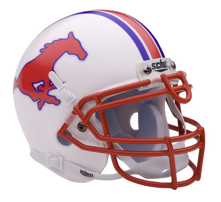 Southern Methodist (SMU) Mustangs NCAA Mini Authentic Football Helmet From Schutt