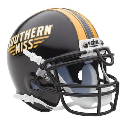 Southern Mississippi Golden Eagles NCAA Mini Authentic Football Helmet From Schutt